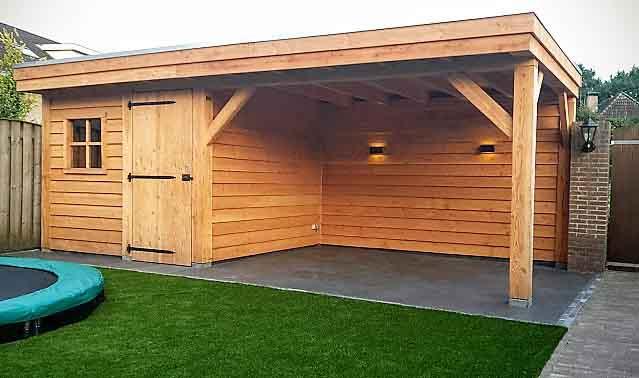 Douglas tuinhuis, model plat dak