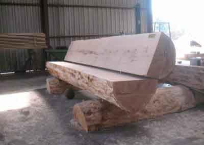 bankje hout halve manen