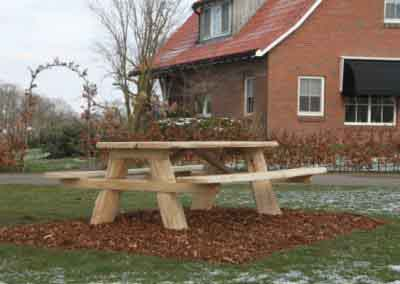 Boomstam picknickbank