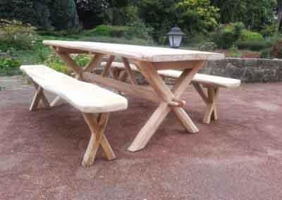 Kruispoottafel picknickset