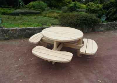 ronde picknickbank