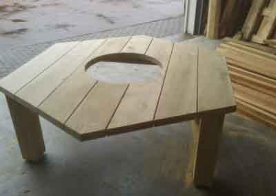 zes kantige tafel