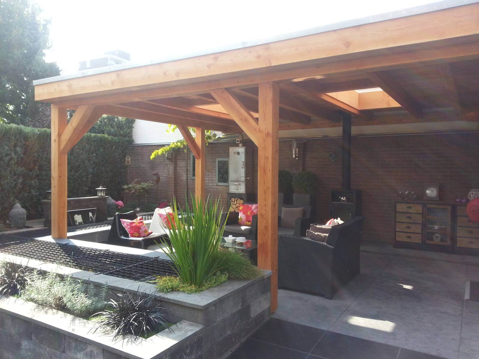 Overkapping Met Schuur : Fotos: overkapping tuinhuis en buitenverblijf richard wigink holten